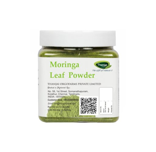 Thanjai Natural Moringa Leafs Powder 500g Jar 100% Natural/Organic Tradtional Method Made No Preservatives No Chemical Contents