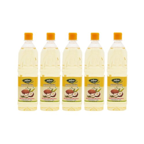 Thanjai Natural 1L X 5L  (5000ML) Coconut Oil Wooden Cold Pressed 100% Pure Natural  (No Preservatives / No Chemicals / UnFiltered